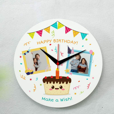 Birthday Themed Personalized Wall Clock