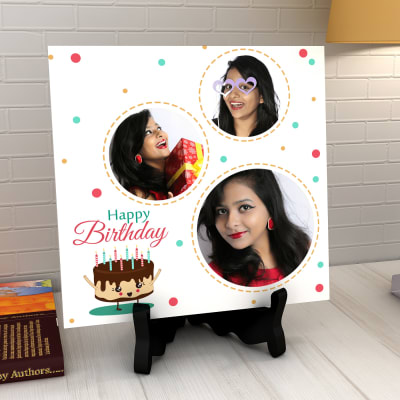 Birthday Wishes Personalized Tile