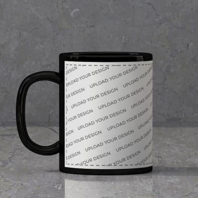 Black Ceramic Mug (250ml) - Fully Customized