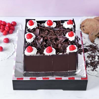 Black Forest Square Cake (2 Kg)
