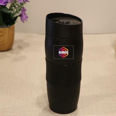 Black Steel Coffee Mug - Customized with Logo