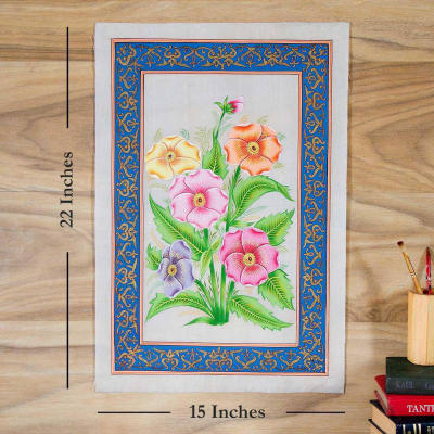 Blooming Buds Flower Silk Painting