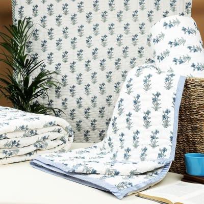 Blooming Jaipur Block Print Double Quilt