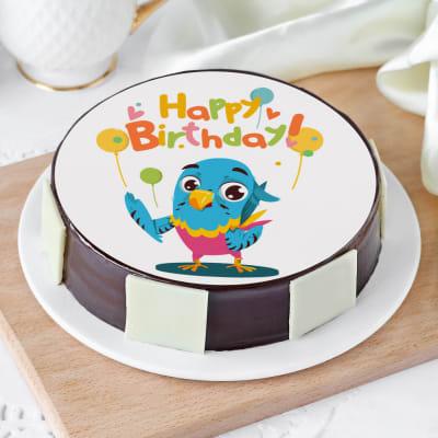 Awe Inspiring Order Blue Bird Birthday Cake Half Kg Online At Best Price Free Funny Birthday Cards Online Alyptdamsfinfo