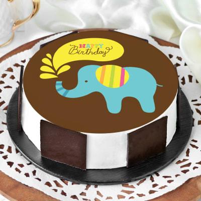Blue Elephant Birthday Cake (1 Kg)