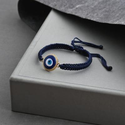 Blue String Evil Eye Bracelet Rakhi