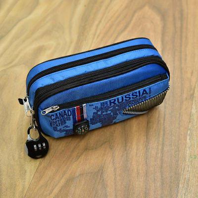 Blue Zipper Lock Pouch cum Pencil Box