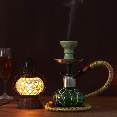Bohemian Themed Lamp with Hookah