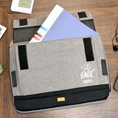 Boss Babe Grey Lap Pillow Laptop Bag