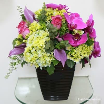Bouquet in Pot