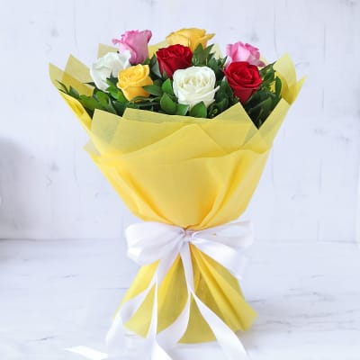 Bouquet of Assorted 8 Roses