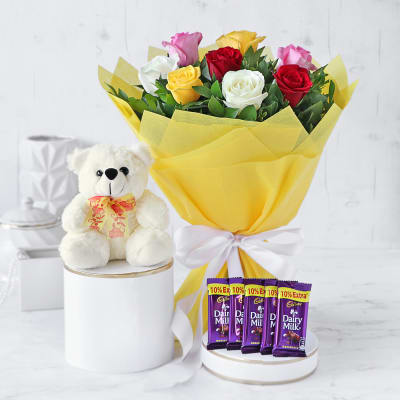 Send Valentines Day Flowers With Chocolates Online India Igp Com