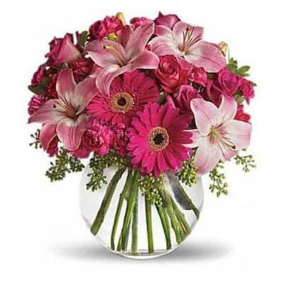 Bouquet of Lilies Gerberas Carnations & Roses
