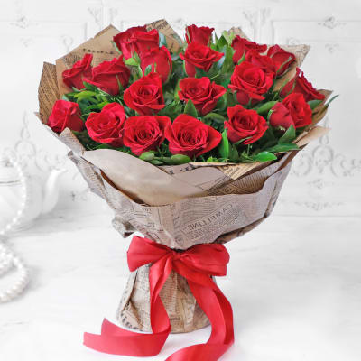 Bouquet of Red Roses (20 stems)