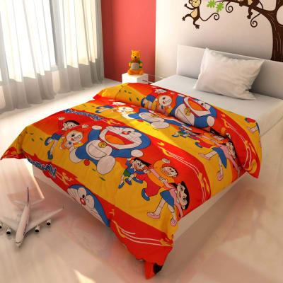 Bright Cartoon Print Kids Blanket
