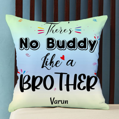 Buddy Like Brother Personalized Satin Pillow