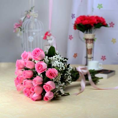 Bunch of 10 pink roses order flowers onlinehd1004833 igp mightylinksfo