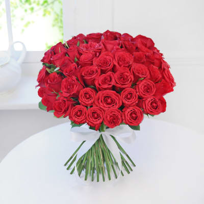 Bunch of 50 Roses for your Love