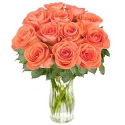 Bunch of Orange Roses Bliss (without vase)