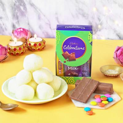 Cadbury Celebrations with Rasgulla & Roli Chawal