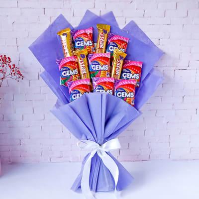 Cadbury Chocolate with Gems Bouquet