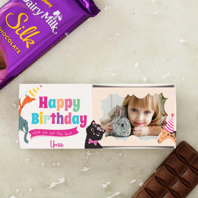 Cadbury Chocolate with Personalized Wrapper for Girl