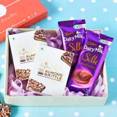 Cadbury Silk & Almond Brittle in Gift Box