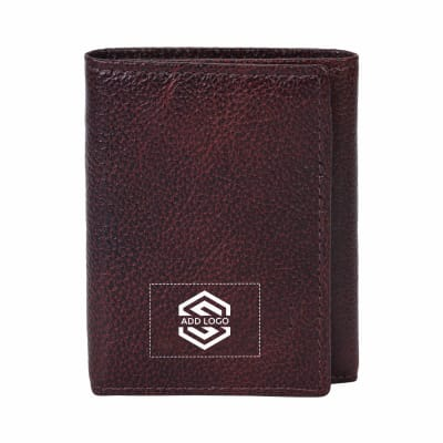 Camelo Oily Crunch Tanned Leather Wallet - Customizable with Logo