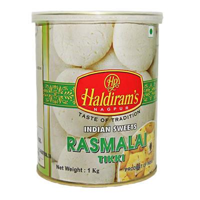 Can of Haldirams Rasmalai