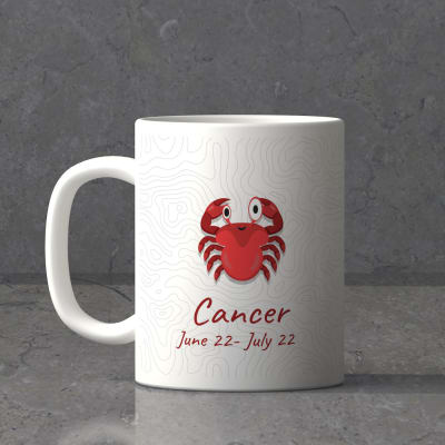 Personalized mugs barware online send personalized gifts to cancer sun sign birthday mug negle Choice Image