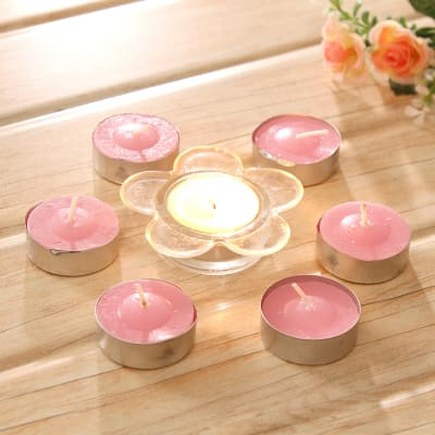 Candle Holder with Tealight Candles