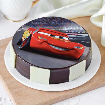 Cars Lightning McQueen Cake (Half Kg)