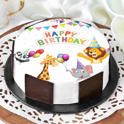 Cartoon Birthday Cake (Half Kg)
