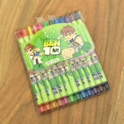 Cartoon Special Set of 12 Crayon Colors