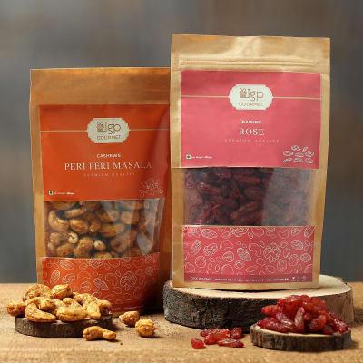 Cashews Peri Peri Masala and Raisins Rose Combo