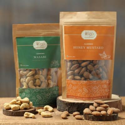 Cashews Wasabi and Almonds Honey Mustard Combo