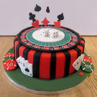 Casino Birthday Cake (3 Kg)