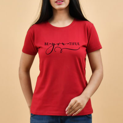 Casual Red T-Shirt for Women