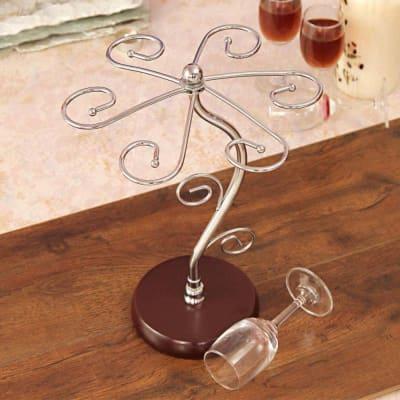 Centerpiece Metallic Wine Glass Holder