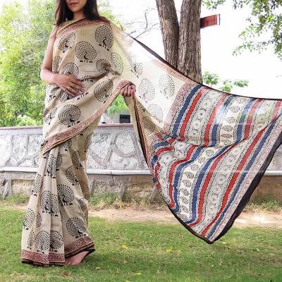 Chanderi Cotton Silk Printed Designer Saree