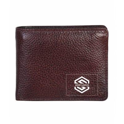 Cherry Brown Cognac Italian Leather Men's Wallet - Customizable with Logo