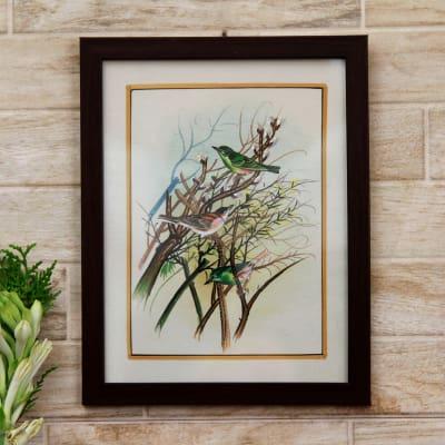 Chirpy Chatter Bird Silk Painting