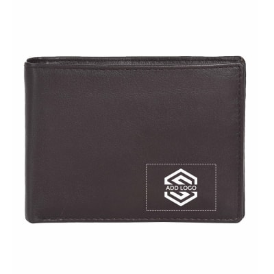 Choco Mud Italian Leather Men's Wallet - Customizable with Logo