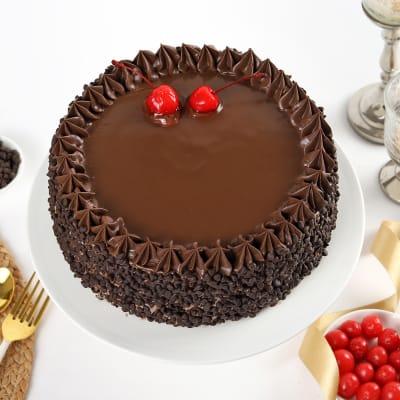 Chocolate Choco Chips Cherry Cake (Eggless) (Half Kg)