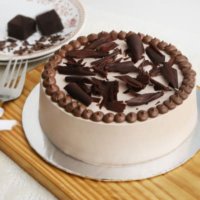 Chocolate Cream Cake (Eggless) (1 Kg)