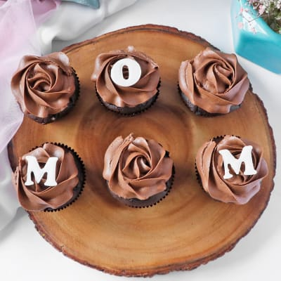 Chocolate Cupcakes for Mom (Pack of 6)
