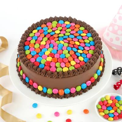 Chocolate Gems Cake Half Kg Order Cakes OnlineHD1033889
