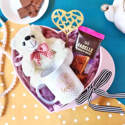 Chocolate Hamper in Heart Shaped Box