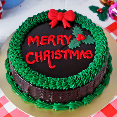 Christmas Chocolate Cake (Half Kg)