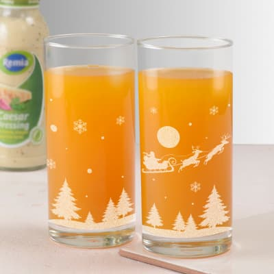 Christmas Design Juice Glasses